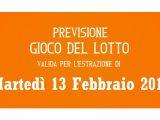 Previsione Lotto 13 Febbraio 2018