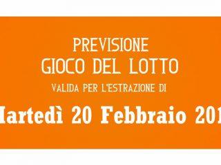 Previsione Lotto 20 Febbraio 2018