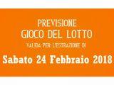 Previsione Lotto 24 Febbraio 2018