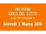 Previsione Lotto 1 Marzo 2018