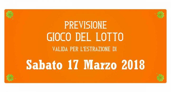 Previsione Lotto 17 Marzo 2018