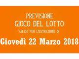 Previsione Lotto 22 Marzo 2018