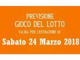 Previsione Lotto 24 Marzo 2018