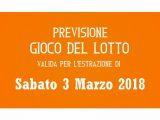 Previsione Lotto 3 Marzo 2018