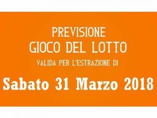 Previsione Lotto 31 Marzo 2018