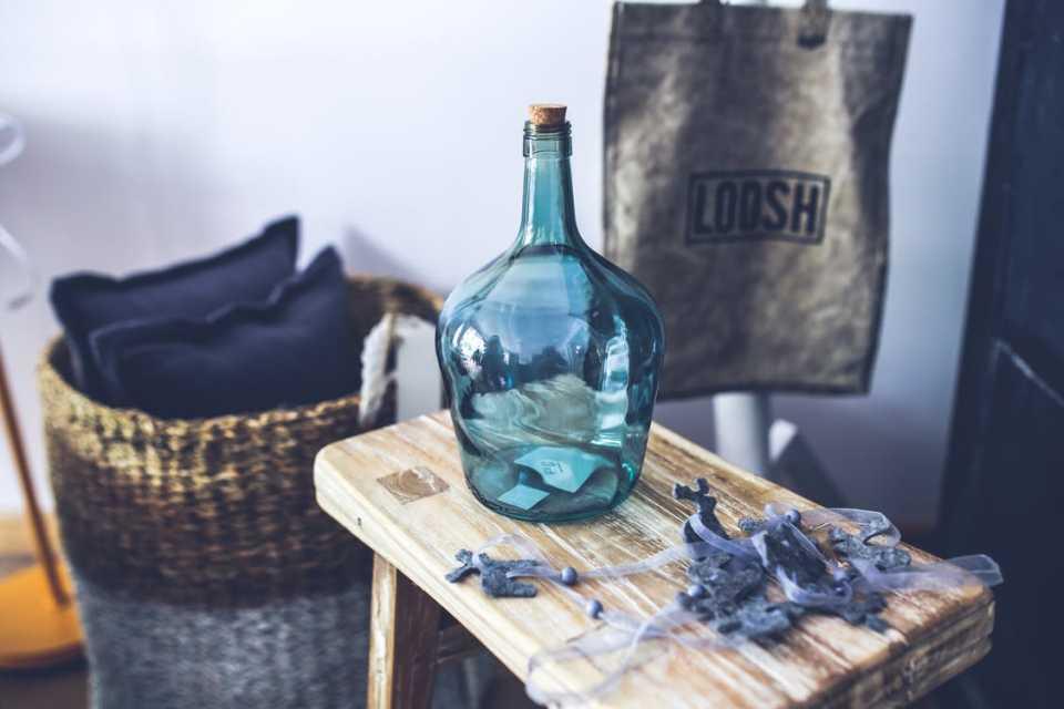Bottiglia blu