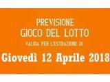 Previsione Lotto 12 Aprile 2018