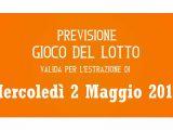 Previsione Lotto 2 Maggio 2018