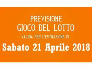 Previsione Lotto 21 Aprile 2018