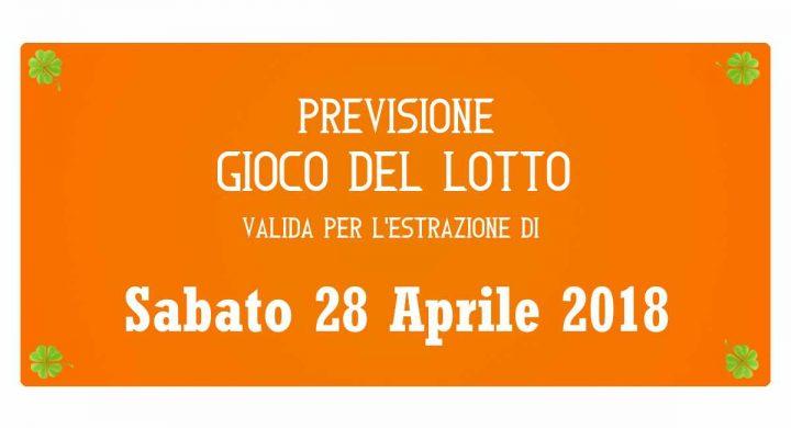 Previsione Lotto 28 Aprile 2018