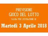 Previsione Lotto 3 Aprile 2018