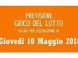 Previsione Lotto 10 Maggio 2018