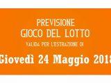 Previsione Lotto 24 Maggio 2018