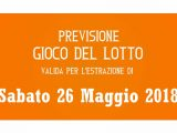 Previsione Lotto 26 Maggio 2018