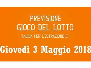 Previsione Lotto 3 Maggio 2018