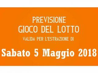 Previsione Lotto 5 Maggio 2018