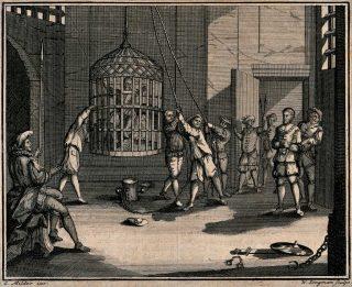 Prigioniero in gabbia