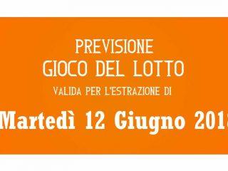 Previsione Lotto 12 Giugno 2018