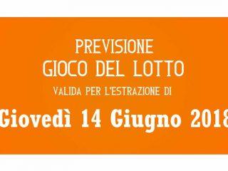 Previsione Lotto 14 Giugno 2018