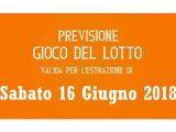 Previsione Lotto 16 Giugno 2018