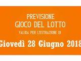Previsione Lotto 28 Giugno 2018