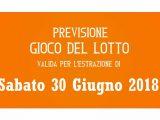 Previsione Lotto 30 Giugno 2018