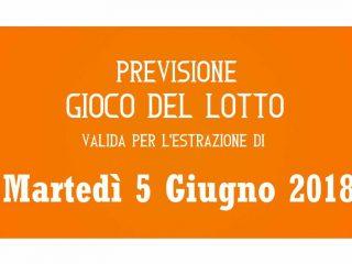Previsione Lotto 5 Giugno 2018