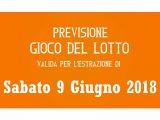 Previsione Lotto 9 Giugno 2018