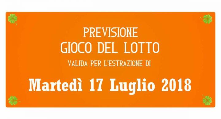 Previsione Lotto 17 Luglio 2018