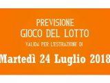Previsione Lotto 24 Luglio 2018