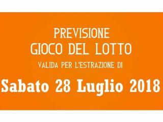 Previsione Lotto 28 Luglio 2018