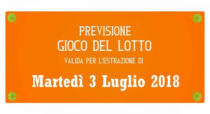 Previsione Lotto 3 Luglio 2018