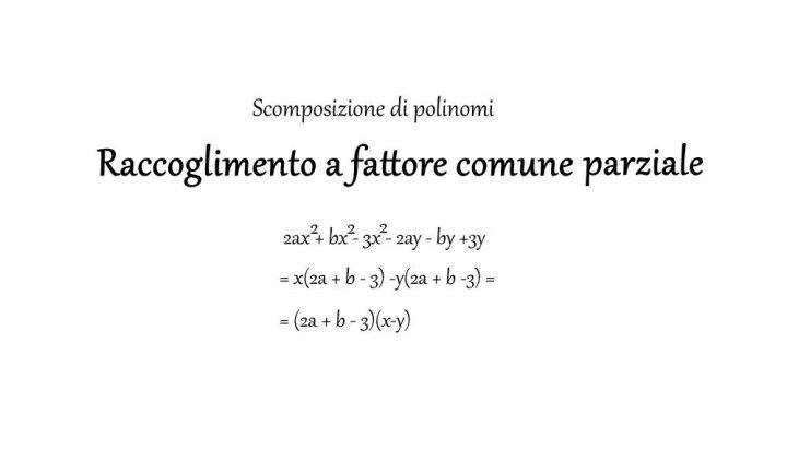 Raccoglimento a fattor comune parziale - Matematica