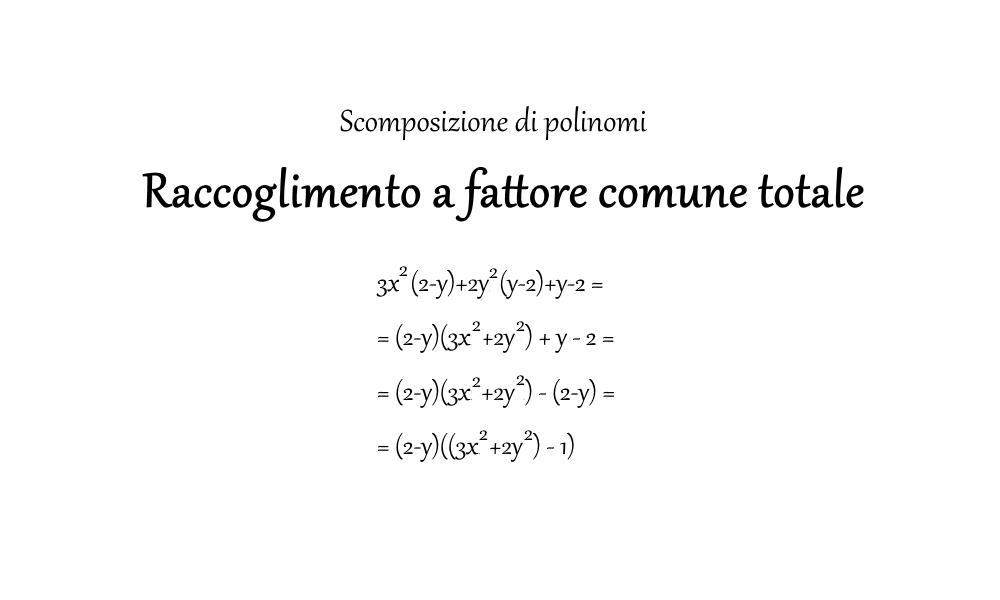 Raccoglimento a fattor comune totale - Matematica - Romoletto Blog