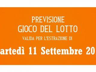 Previsione Lotto 11 Settembre 2018