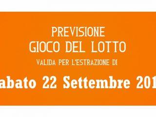 Previsione Lotto 22 Settembre 2018