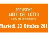 Previsione Lotto 23 Ottobre 2018