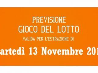 Previsione Lotto 13 Novembre 2018