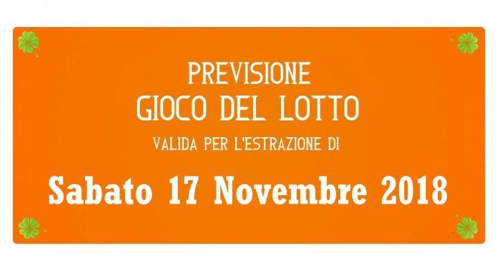 Previsione Lotto 17 Novembre 2018