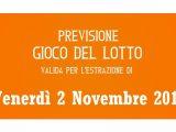 Previsione Lotto 2 Novembre 2018