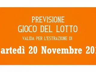 Previsione Lotto 20 Novembre 2018
