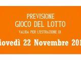 Previsione Lotto 22 Novembre 2018