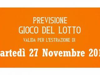 Previsione Lotto 27 Novembre 2018