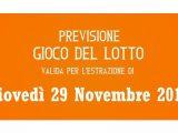 Previsione Lotto 29 Novembre 2018