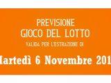 Previsione Lotto 6 Novembre 2018