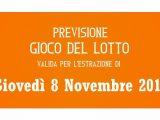 Previsione Lotto 8 Novembre 2018