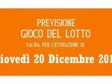 Previsione Lotto 20 Dicembre 2018