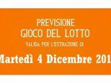 Previsione Lotto 4 Dicembre 2018