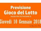 Previsione Lotto 10 Gennaio 2019