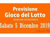 Previsione Lotto 5 Gennaio 2019